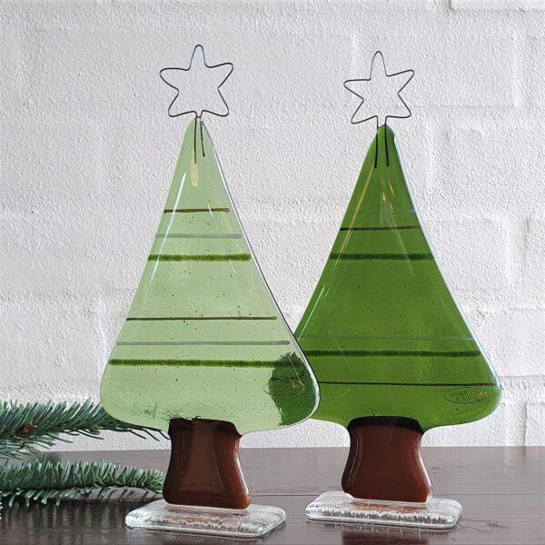 Juletræer med striber