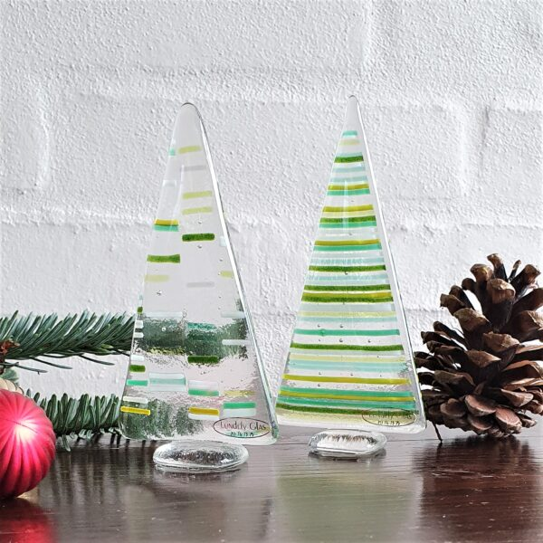 Stribede juletræer - lille